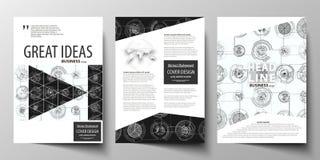 Calibres d'affaires pour la brochure, magazine, insecte, rapport annuel  Calibre de couverture, disposition dans la taille A4 Con illustration de vecteur