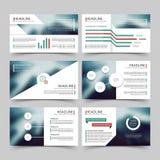 Calibres d'entreprise de vecteur de rapport de vente de présentation d'affaires avec des éléments d'infographics de diagrammes et illustration libre de droits