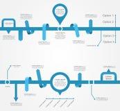 Calibres d'Infographic pour le design d'entreprise Vecteur Photographie stock