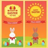 Calibres de bannière de Pâques Photographie stock