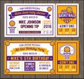 Calibres de billet de vecteur de basket-ball Photo libre de droits