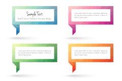 Calibres de bulle de cadre et de parole des textes de polygone illustration stock