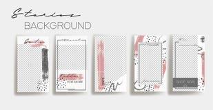 Calibres de cadre d'histoires d'Instagram Fond de vecteur Maquette pour la bannière sociale de médias disposition abstraite blanc illustration stock