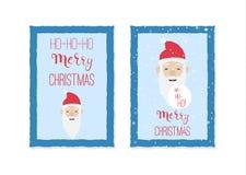 Calibres de carte de Noël avec le père noël Photos libres de droits