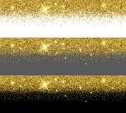 Calibres de carte de scintillement d'or de vecteur illustration libre de droits