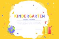 Calibres de certificat de jardin d'enfants pour l'étudiant illustration de vecteur