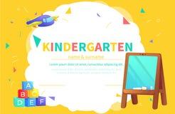 Calibres de certificat de jardin d'enfants pour l'étudiant illustration stock