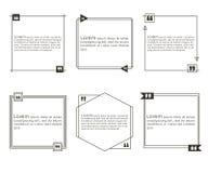 Calibres de citation réglés illustration de vecteur