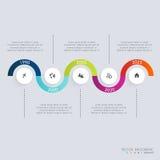 Calibres de conception d'Infographic de chronologie Diagrammes et statistiques Images stock