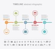 Calibres de conception d'Infographic Page abstraite de présentation Photos stock