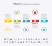 Calibres de conception d'Infographic Page abstraite de présentation Image libre de droits