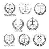 Calibres de conception de bureau et de cabinet d'avocats d'avocat illustration libre de droits