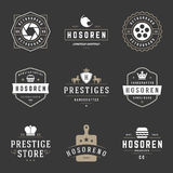 Calibres de conception de logos de vintage réglés Éléments de conception de vecteur, Logo Elements image stock