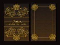 Calibres de conception de vecteur Calibre de diplôme Couleur de Brown Illustration de Vecteur
