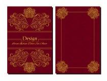 Calibres de conception de vecteur Calibre de diplôme Couleur rouge Illustration Libre de Droits