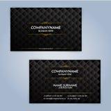 Calibres de design de carte d'affaires, conception de luxe Photos libres de droits