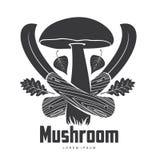 Calibres de logo de champignon photographie stock libre de droits