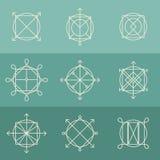 Calibres de logo d'ensemble réglés Photographie stock