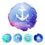 Calibres de logo de thème de mer Photographie stock libre de droits