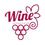 Calibres de logo de vin photos stock