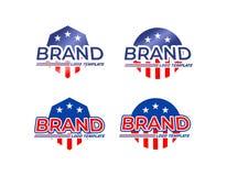 Calibres de logo de drapeau américain illustration de vecteur