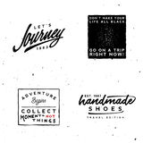 Calibres de logotypes de voyage Photo libre de droits