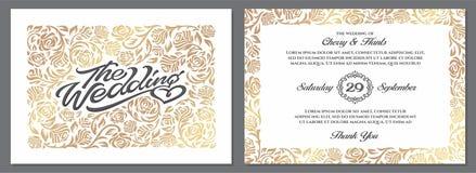 Calibres de luxe d'invitation de mariage Fond clair Photos libres de droits