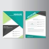 Calibres de présentation de tract d'insecte de brochure de vert d'Eco illustration stock