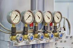 Calibres de pressão Foto de Stock