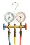 Calibres de pressão do refrigerador Imagem de Stock