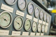 Calibres de pressão industriais Foto de Stock