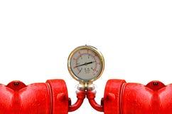 Calibres de pressão industriais circulares Imagem de Stock
