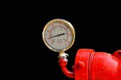 Calibres de pressão industriais circulares Fotos de Stock