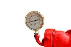 Calibres de pressão industriais circulares Fotografia de Stock
