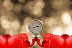 Calibres de pressão industriais circulares Foto de Stock Royalty Free