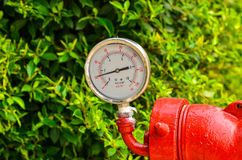 Calibres de pressão industriais circulares Fotos de Stock Royalty Free