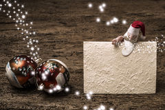 Calibres de salutation de Noël Photographie stock libre de droits
