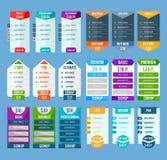 Calibres de Tableau d'évaluation réglés illustration de vecteur