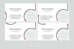 Calibres de vecteur de carte de visite professionnelle de visite de Minimalistic Dessin géométrique universel avec l'accent léger illustration stock