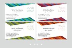 Calibres de vecteur de carte de visite professionnelle de visite de Minimalistic Dessin géométrique universel avec l'accent multi illustration stock