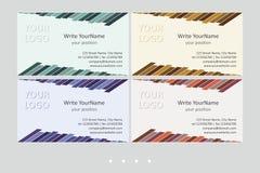 Calibres de vecteur de carte de visite professionnelle de visite de Minimalistic Dessin géométrique universel avec l'accent vif - illustration stock