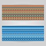 Calibres de vecteur réglés avec le thème d'ornamental d'art Photos stock
