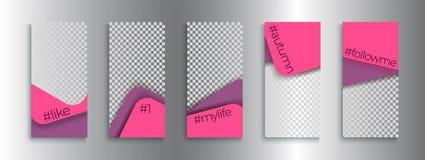 Calibres editable à la mode d'histoires d'Instagram, illustration de vecteur illustration de vecteur