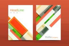 Calibres géométriques de rapport de gestion de lignes droites Photo libre de droits