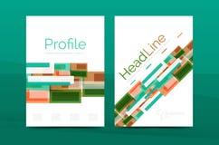 Calibres géométriques de rapport de gestion de lignes droites Image stock