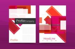 Calibres géométriques de rapport de gestion de lignes droites Images stock