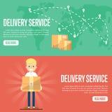 Calibres horizontaux de site Web de service de distribution Photos stock
