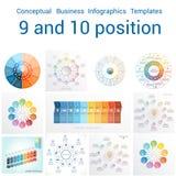 Calibres Infographics pour neuf et dix positions illustration de vecteur