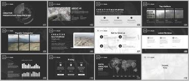 Calibres minimaux de présentation Conception de technologie sur le fond blanc Élément futuriste de cercle de technologie Concepti illustration stock