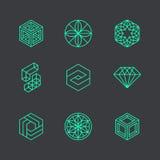 Calibres modernes abstraits de conception de logo de vecteur illustration de vecteur